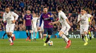 شاهد.. أهداف الشوط الأول من مباراة برشلونة وريال مدريد