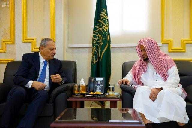 سفير مصر بالرياض يستعرض مع النائب العام السعودي أوضاع المصريين بالمملكة