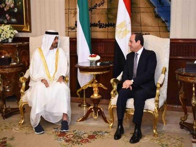 الإمارات ومصر إيد واحدة.. زيارة السيسي إلى دبي تريند على تويتر