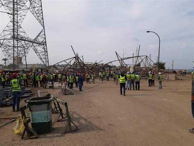 التصريح بدفن 5 جثامين من عمال برج كهرباء أوسيم
