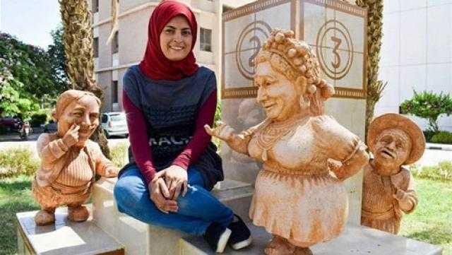 """نحاتة المنيا تعلق على رفض تمثال """"الفاجومي"""" بصالون الشباب"""