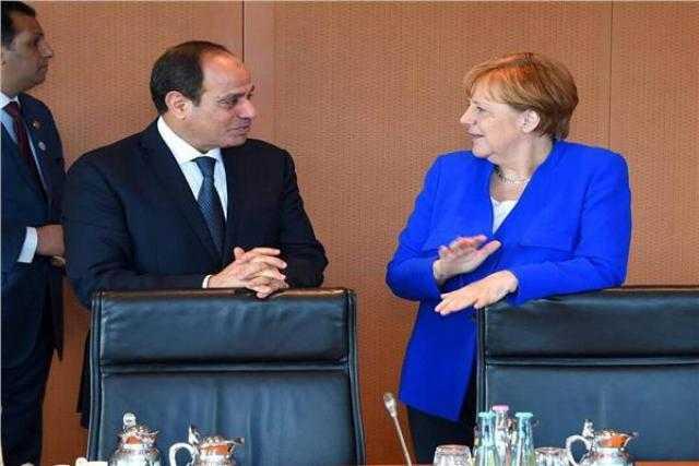 بدء جلسة المباحثات الثنائية بين السيسي وميركل في برلين