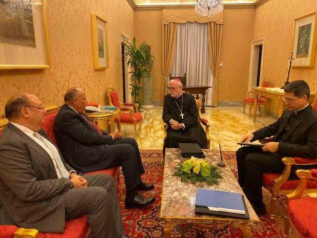 وزير الخارجية يؤكد موقف مصر الثابت تجاه القضية الفلسطينية