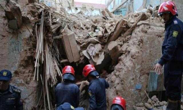 انهيار 3 منازل بدرب العشش في طنطا