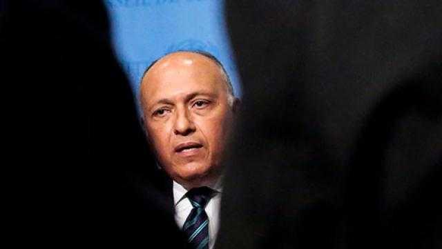 تعليق سامح شكري على تصريحات وزير دفاع تركيا بشأن حدود مصر مع ليبيا