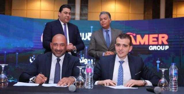 اتفاقية تعاون بين المصرية للاتصالات وشركتي عامر وبورتو جروب