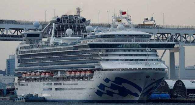 اكسترا نيوز: 1200 شخص مازالوا على متن السفينة اليابانية الموبوءة