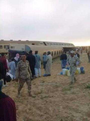 """تفاصيل خروج قطار من مساره بين """"الإسكندرية - مطروح"""""""