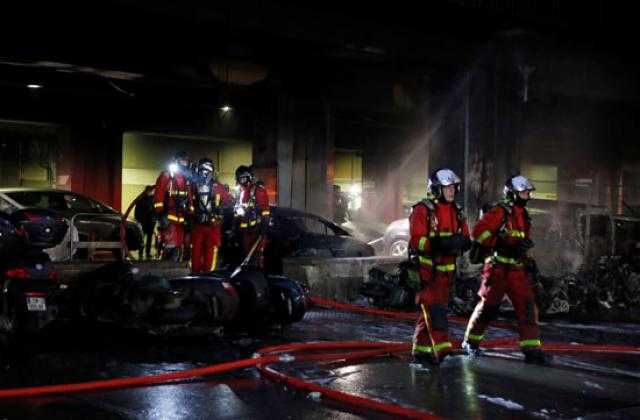 اندلاع حريق هائل بمحيط محطة قطار باريس (صور)