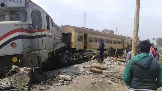 اصطدام قطار في رصيف محطة بلقاس