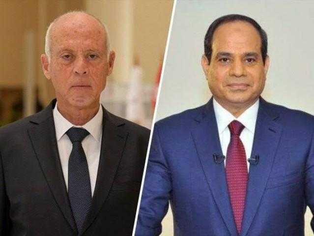 السيسي وقيس يتفقان على تعاون مصر وتونس في مواجهة كورونا
