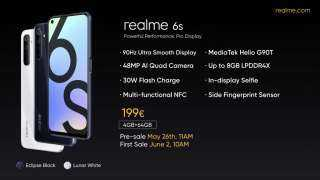 3500 جنيه.. مواصفات هائلة لهاتف Realme 6s الجديد (فيديو)
