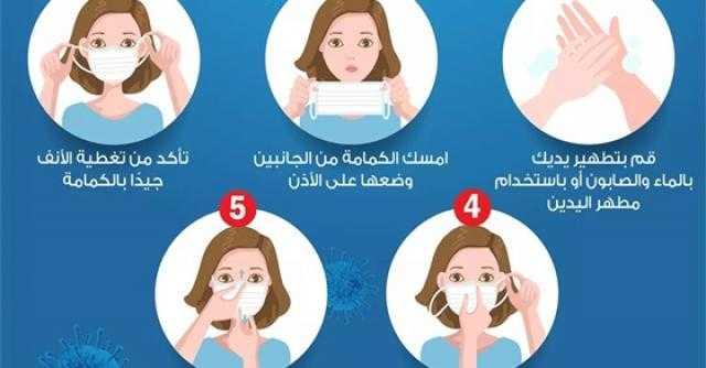 4 خطوات لارتداء الكمامة بطريقة صحيحة