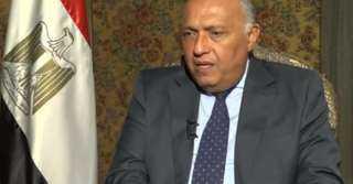 بسبب سد النهضة.. وزير الخارجية يحذر من جفاف شديد في مصر