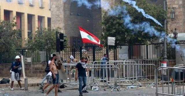تظاهرات لبنان.. أعمال تخريب وحرق في محيط البرلمان