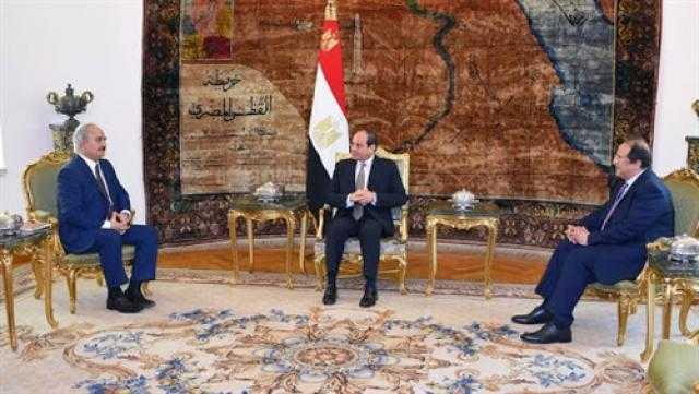 مباحثات السيسي مع الأطراف الليبية الأبرز في الصحف