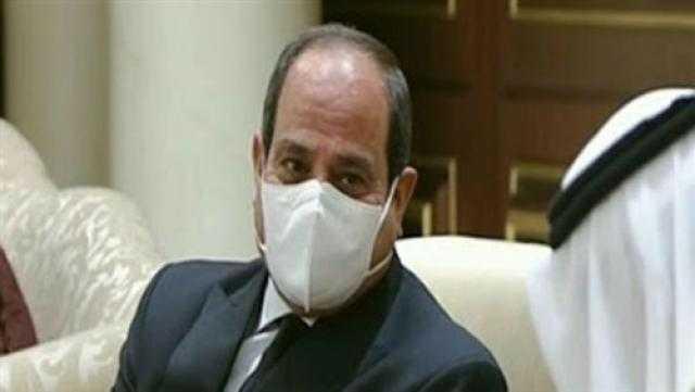 السيسي يعود إلى أرض الوطن بعد تقديم العزاء في الشيخ صباح الأحمد