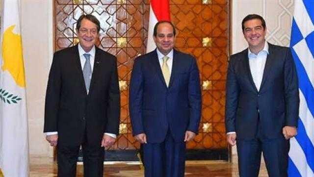 القمة الثلاثية بين مصر وقبرص واليونان الأبرز في صحف القاهرة