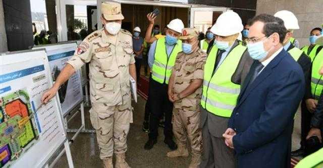 وزير البترول يتفقد المقر الجديد للوزارة في العاصمة الإدارية