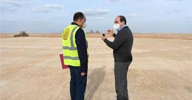 السيسي يتفقد مشروعات الشبكة القومية للطرق والمحاور بالقاهرة والجيزة