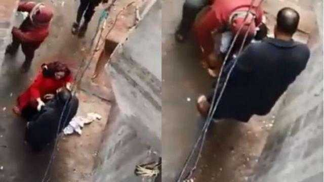 القصة الكاملة.. مدمن يجرد ابنته من ملابسها فى الشارع ويحاول إشعال النيران بها
