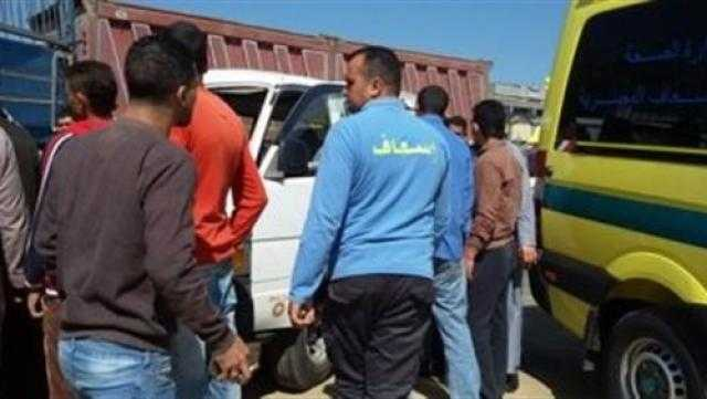 4 مصابين في حادث تصادم ببنى سويف