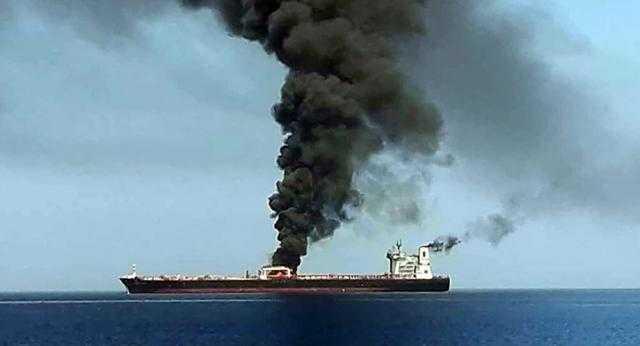 انفجار بخليج عُمان.. وتورط إيران