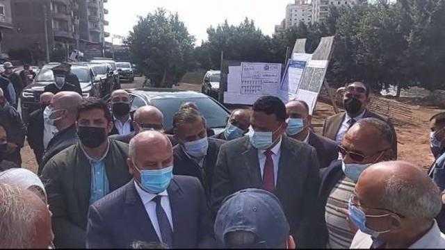 عاجل.. وزير النقل يضع حجر أساس مشروع تحيا مصر المنصورة بالدقهلية
