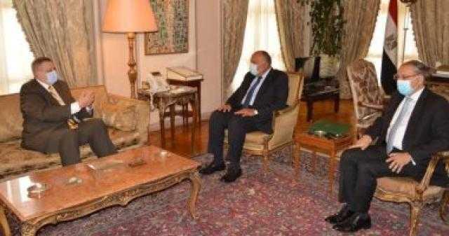 سامح شكرى يؤكد للمبعوث الأممى ضرورة إخراج القوات الأجنبية والمرتزقة من ليبيا