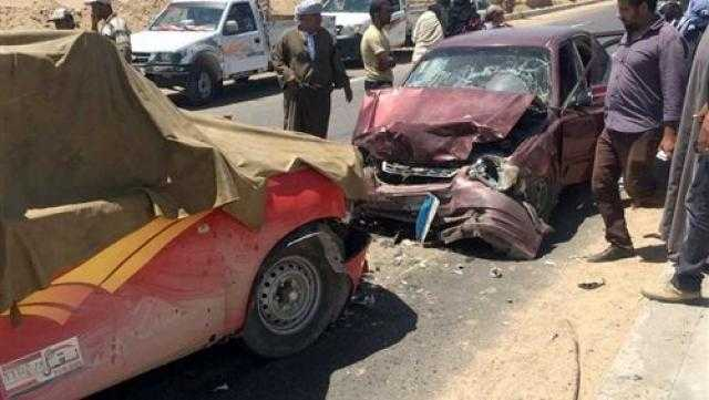 مصرع وإصابة شخصين إثر حادث تصادم في أسوان