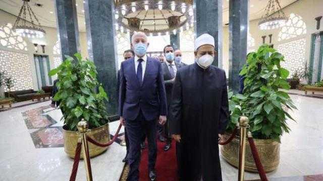 الإمام الأكبر يستقبل الرئيس التونسي في مشيخة الأزهر