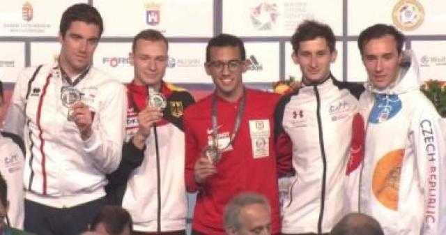 أحمد الجندي يحصد برونزية العالم للكبار للخماسي الحديث ويتأهل للأولمبياد