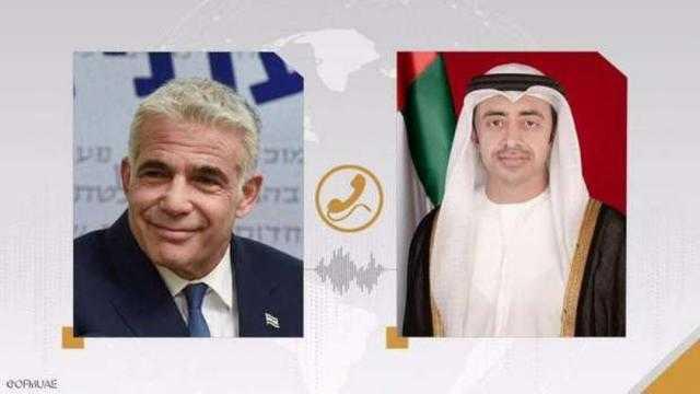 عاجل.. عبدالله بن زايد يبحث مع لابيد العلاقات بين الإمارات وإسرائيل