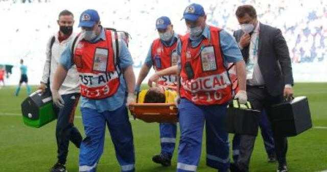 إصابة خطيرة جديدة في يورو 2020 بالعمود الفقري للاعب روسيا