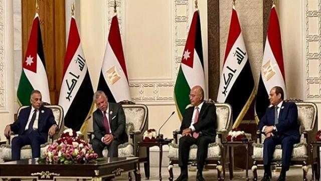 البيان الختامي لقمة بغداد.. دعم مصر في أزمة سد النهضة