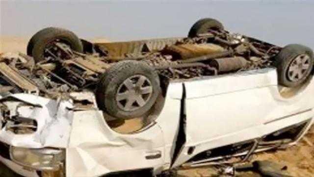 عاجل.. إصابة 8 أشخاص في حادث انقلاب سيارة بطريق الضبعة في البحيرة