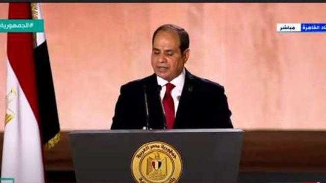 عاجل.. السيسي يوجه رسالة هامة للمصريين