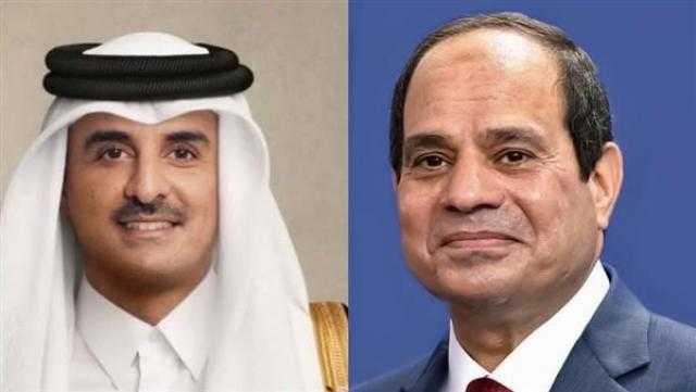 أمير قطر يهنئ الرئيس السيسي بذكرى ثورة 23 يوليو