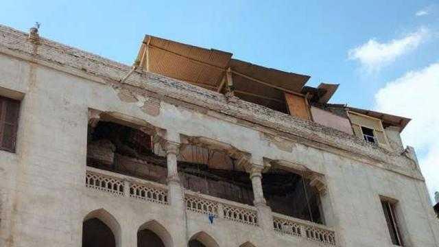 عاجل.. إخلاء عقار تراثي بمصر الجديدة بعد سقوط سقف شرفة بالطابق الأخير