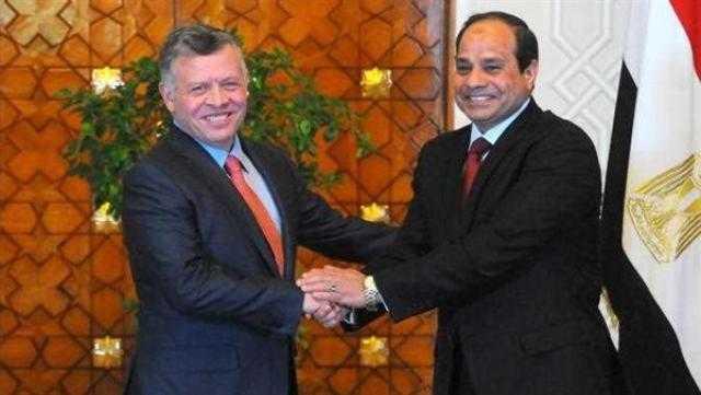 تأكيد السيسى تطلع مصر لتعزيز العلاقات مع الأردن يتصدر عناوين الصحف