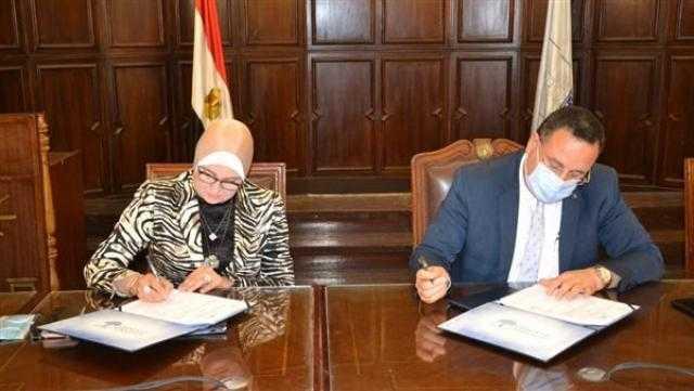 بروتوكول تعاون بين جامعة الإسكندرية ومعهد بحوث الإلكترونيات