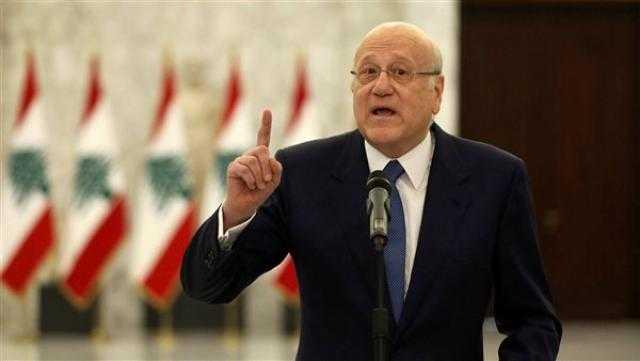 عاجل.. رئيس الحكومة اللبنانية يدعو إلى التضامن لتحقيق الإنتاجية وتجاوز الأزمات