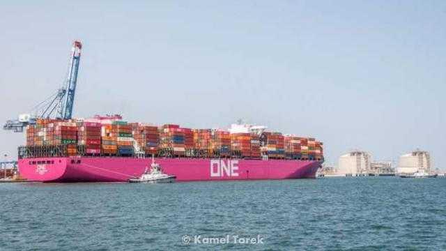 ميناء دمياط: 33950 طنا حركة الصادر من البضائع العامة