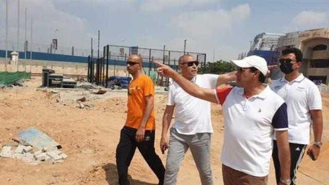 وزير الرياضة يتابع معدلات إنجاز إنشاءات فرع نادي النادي بشيراتون