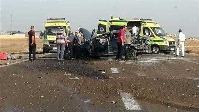 عاجل.. إصابة 5 أشخاص في حادث اصطدام سيارة وانقلابها بكفر الشيخ