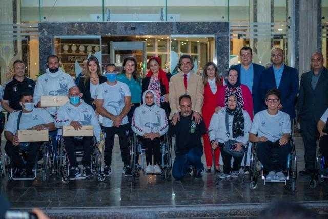 مؤسسة مصر للصحة والتنمية تكرم أبطال البارالمبية المشاركين في دورة طوكيو 2020(صور)