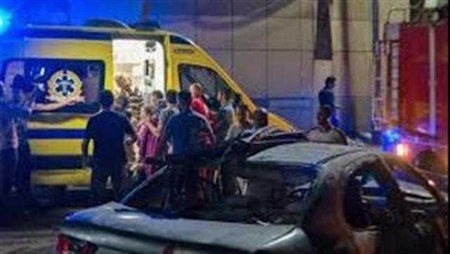 عاجل.. إصابة 3 أشخاص في حادث تصادم بين موتوسيكل وسيارة في البحيرة