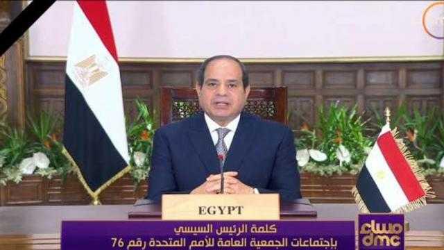 السيسي: انتخاب مصر رئيسا للجنة الأمم المتحدة لبناء السلام يعكس ثقة المجتمع الدولي