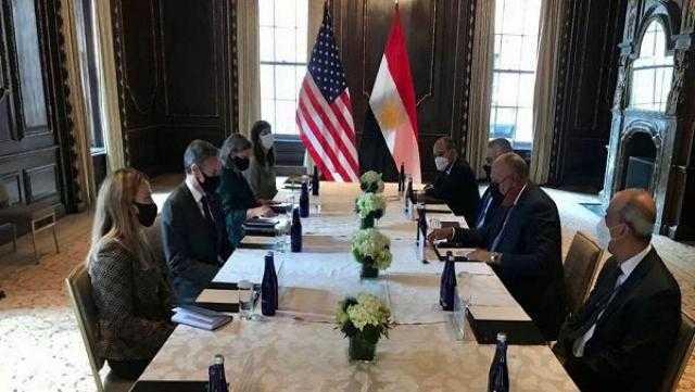 سامح شكري يبحث مع نظيره الأمريكي تعزيز التعاون المشترك بين البلدين