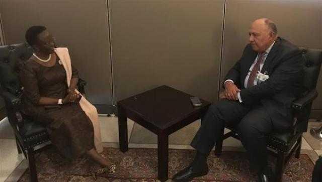 شكري يجتمع بوزيرة خارجية تنزانيا على هامش لقاءات الأمم المتحدة